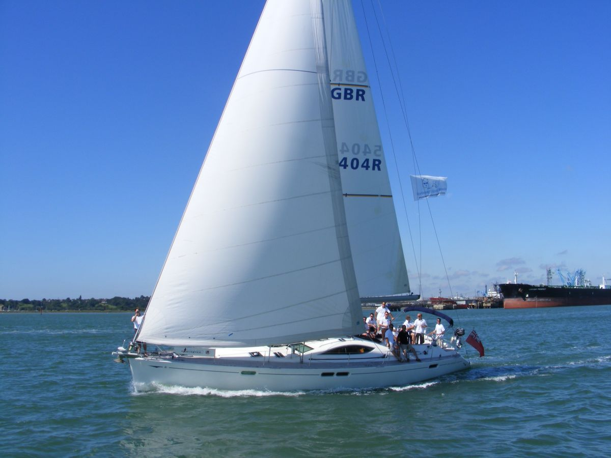 Shared Hospitality on board the 52ft yacht at Cowes Week