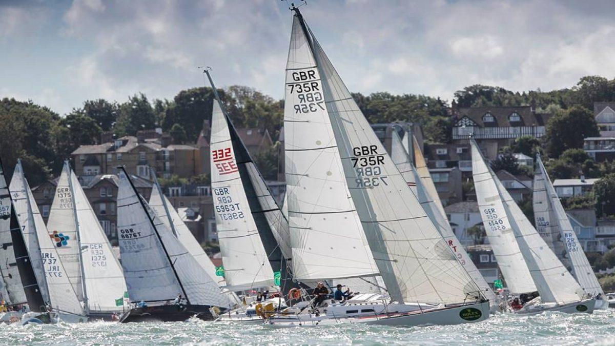 Corporate yacht racing at Cowes week