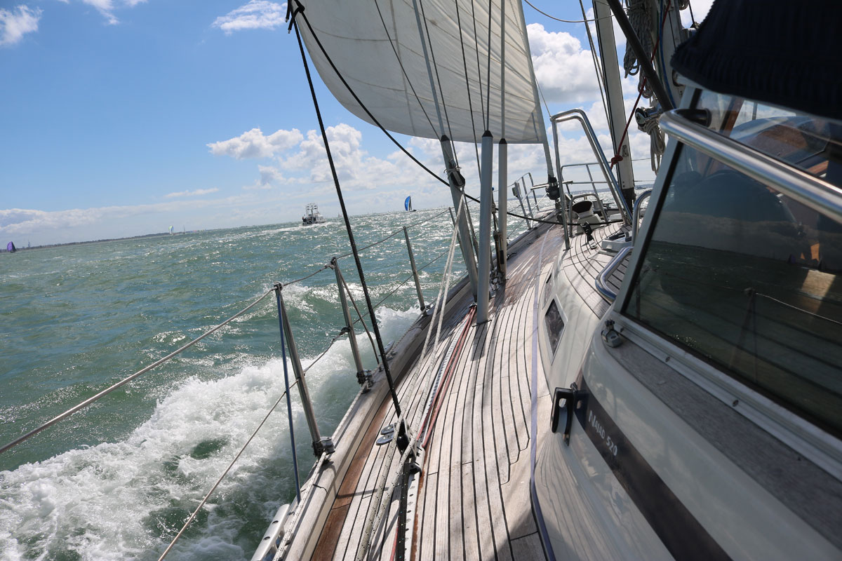 Cowes Week Hospitality on board the luxury sailing yacht