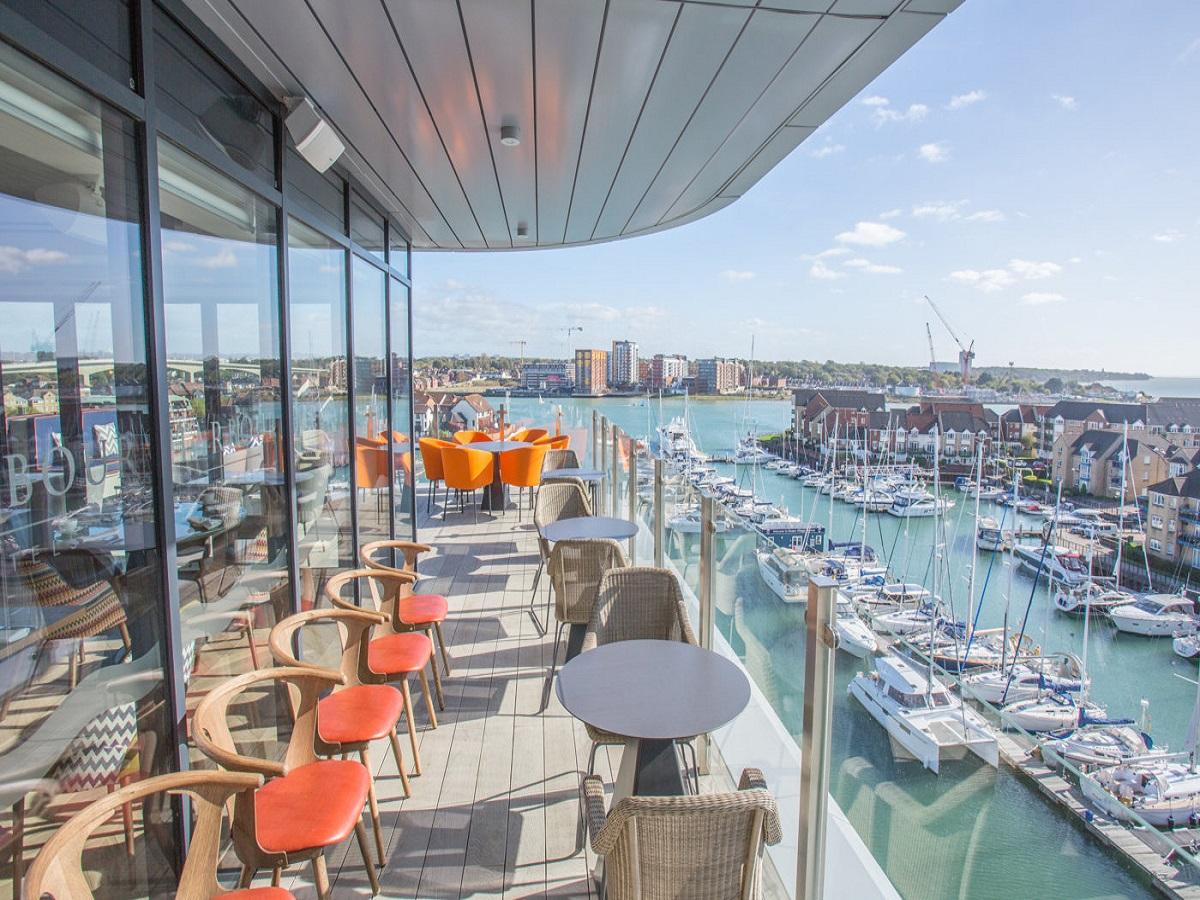 Southampton Harbour Hotel terrace